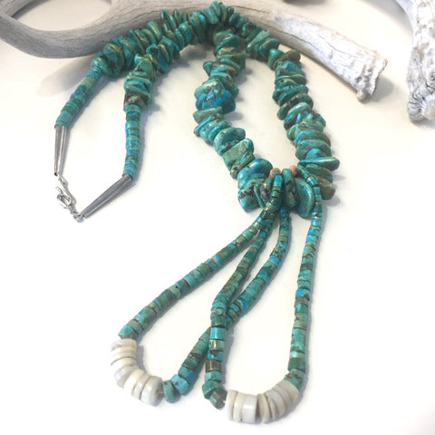 Vintage Turquoise Tab Necklace