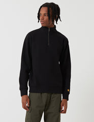 Carhartt Chase Quarter-Zip High Neck Sweatshirt - Black
