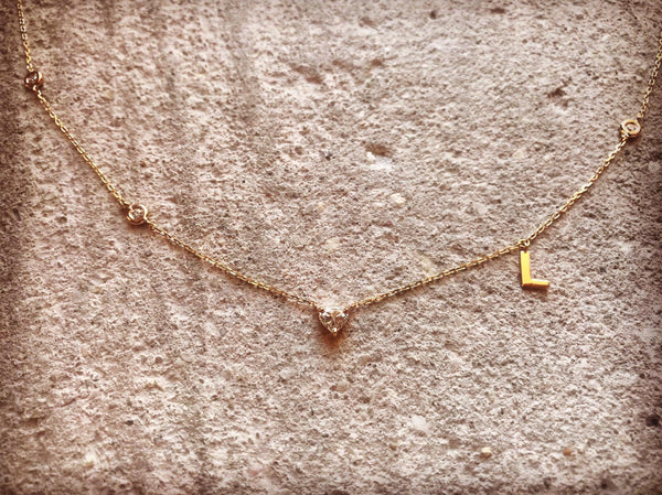 Diamond, Letter Necklace