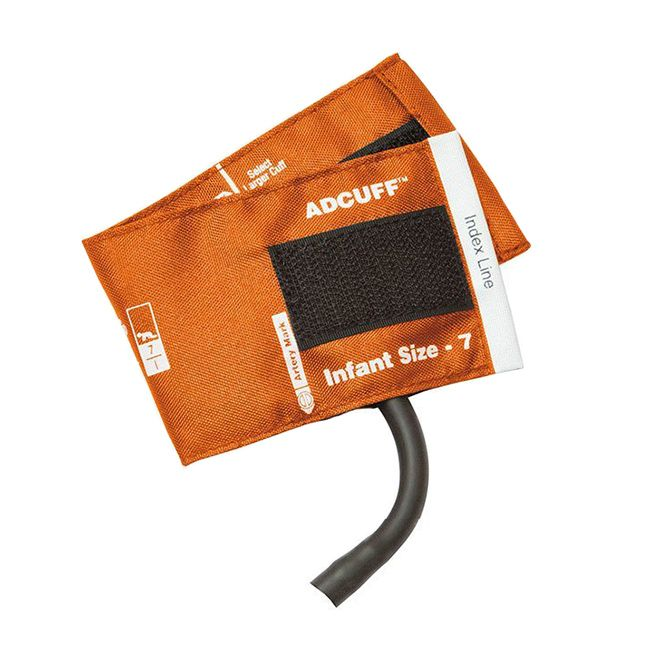 ADC Adcuff Cuff and Bladder with One Tube - Infant - Orange