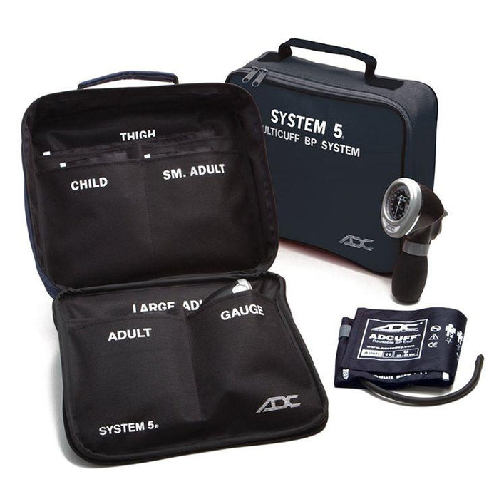 ADC Carry Case for System 5 Portable 5 Cuff Sphygmomanometer Multicuff Kit - Navy