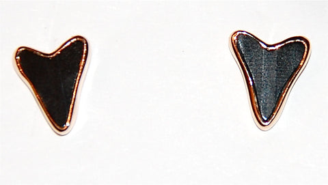 Black tiger eye fish tail earring