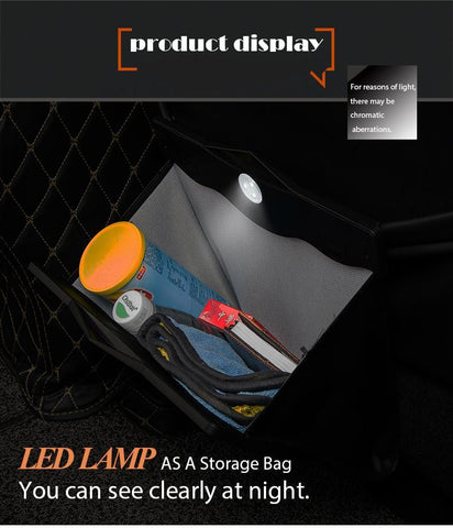 Car Storage Bin With LED Light