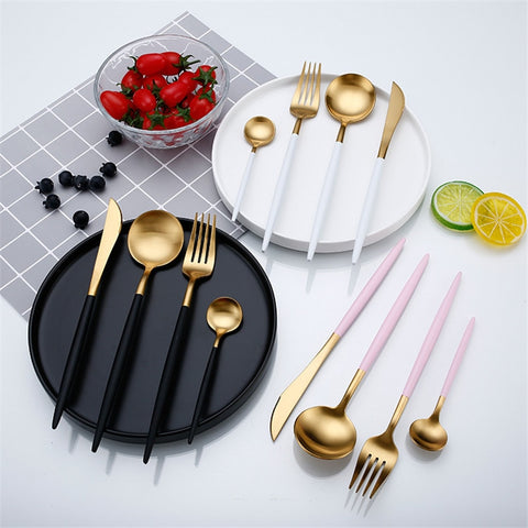 Gold Flatware Set