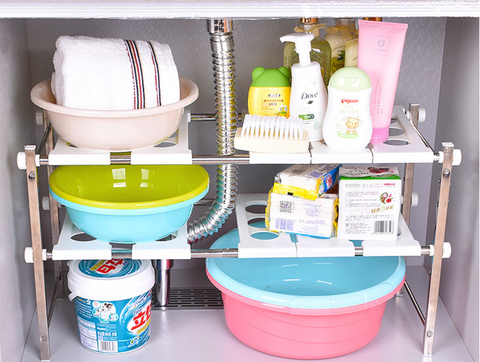 Heavy Duty  Under-Sink Shelving