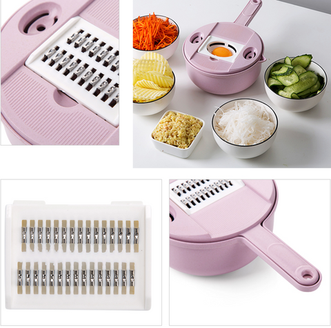 9-in-1 Multipurpose Biodegradable Kitchen Grater
