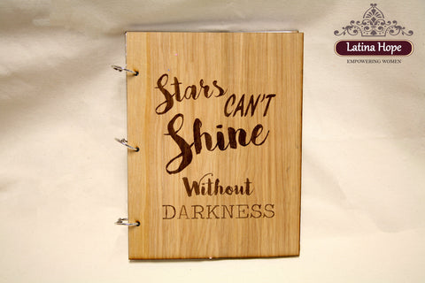 Wood Cover Engraved Notebook/Journal
