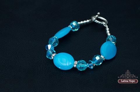 Icy Blue Crystal Bracelet  - FREE SHIPPING!