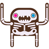 Mike Wrobel Shop Moshikun Skeleton Logo