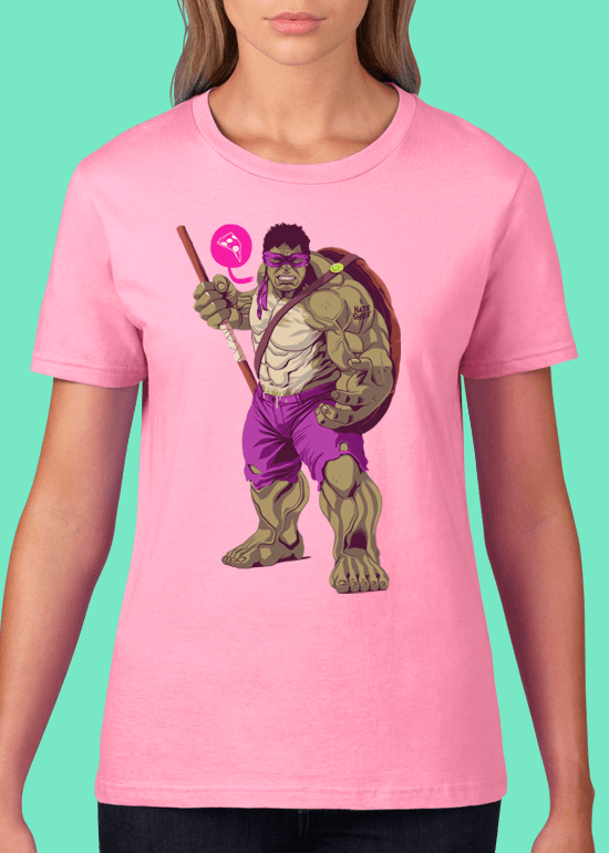 Mike Wrobel Shop The Hulk T Shirt Woman Charity Pink Small Medium Large X-Large 2X-Large