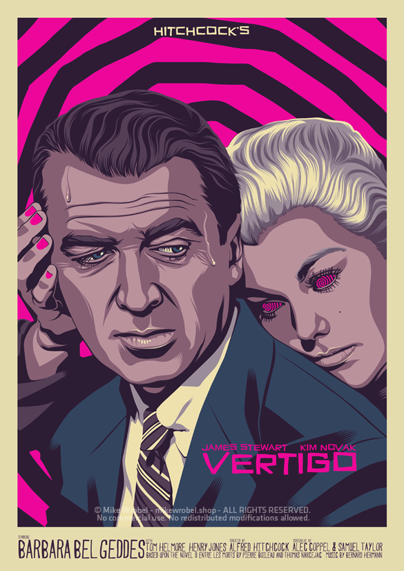 Mike Wrobel Shop Vertigo Art Print medium-11.7x16.5 Artwork Wall Art Poster