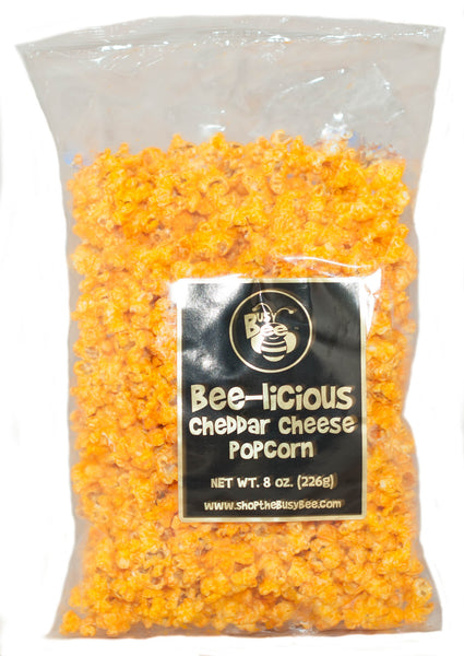 Bee-licious Cheddar Cheese Popcorn