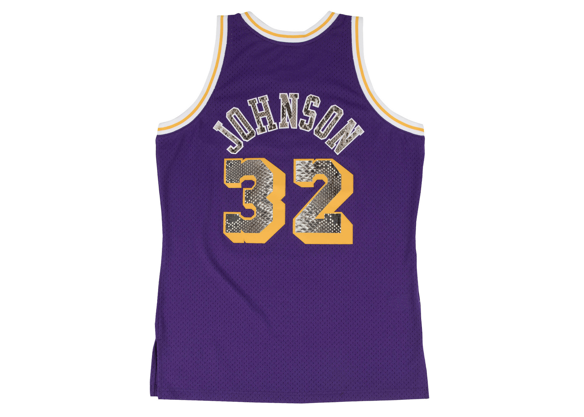 Mitchell & Ness Magic Johnson 1984-1985 Los Angeles Lakers Python Jersey (Away)