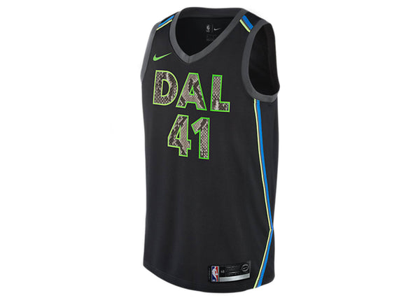 Nike Dirk Nowitzki Dallas Mavericks City Edition Python Jersey