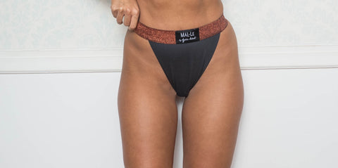 Dark Gray High Waist Briefs