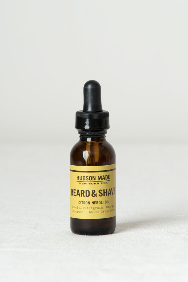 hudson made beard shave oil citron