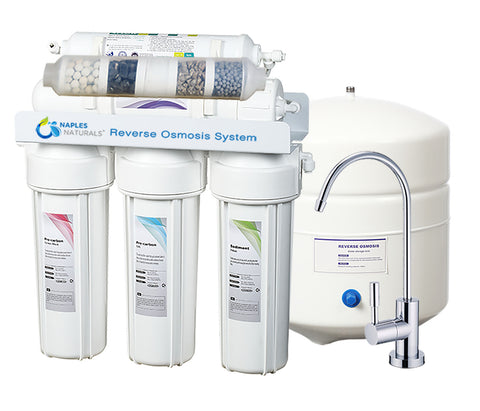 Alkaline 6 Stage Reverse Osmosis Water Filtration System Model 506 with Increased pH and Trace Minerals