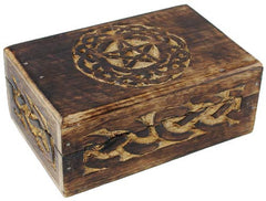 Celtic Circle Pentagram Tarot Box