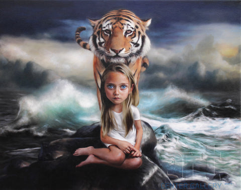 "Richard J. Oliver ""A Vision on the Retina of the Water and of Me"" Limited Edition Canvas Giclee"
