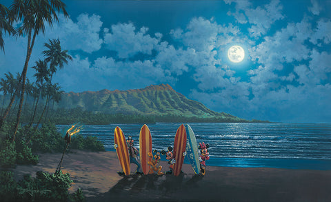 "Rodel Gonzalez Disney  ""Moonlight Surf Crew"" Limited Edition Canvas Giclee"