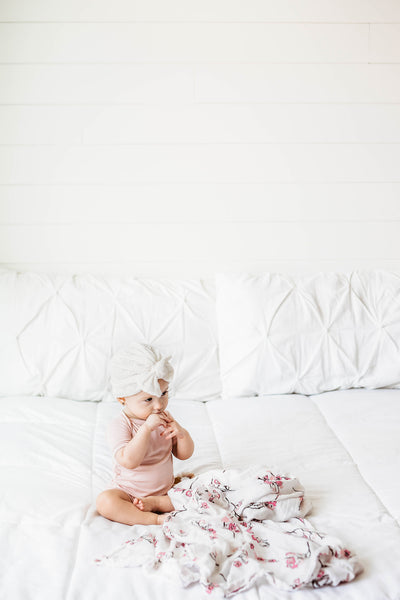 Cherry Blossom Muslin Swaddle