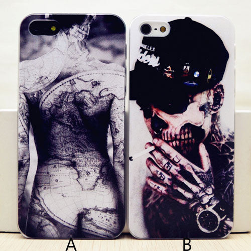 Cool Rigid Boys and Tattoo Case For Iphone 4/4s/5 - lilyby