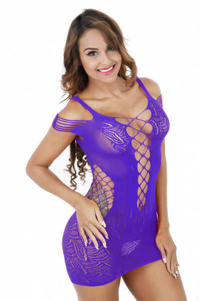 Hollow Out Lingerie Set Siamese Skirt Tight Conjoined Net