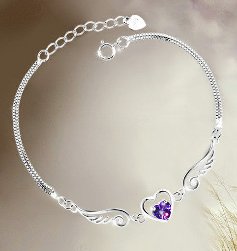 Angel Wings Lover Silver Bracelet - lilyby