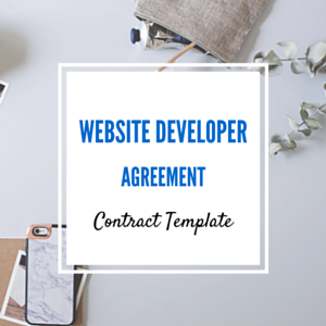 Contract Template: Website Developer Agreement Template