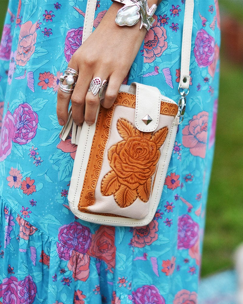 Folk Festival Pouch - Cream