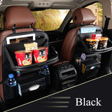 New Car Seat Back Bag Folding Table Organizer Pad Drink Chair Storage Pocket Box Travel Stowing Tidying Automobile Accessories - thefashionique