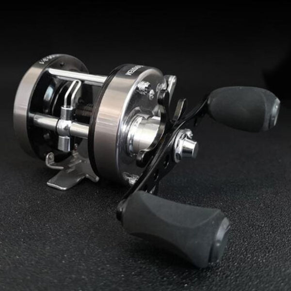 Smooth Lightweight Trolling Reel Ice Fishing Reels Baitcasting Fishing Lure Reel Cast Drum Wheel Reel Left/ Right for Saltwater - thefashionique
