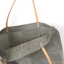 waxed canvas market tote