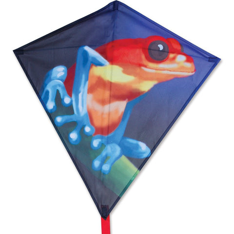 30 in. Diamond Kite - Tropical Frog