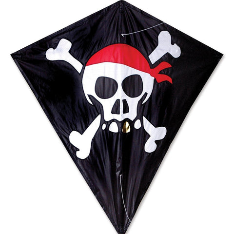 30 in. Diamond Kite - Skull & Crossbones