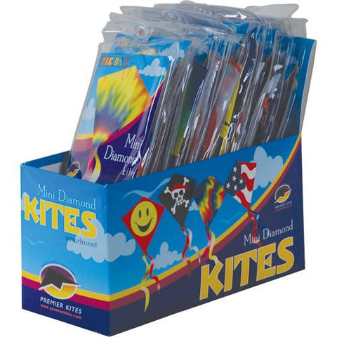 Mini Diamond Assorted Pack of 24 Kites