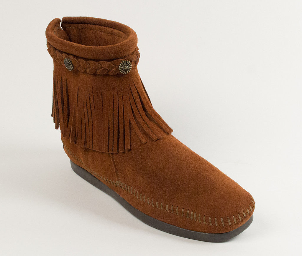 Women's Minnetonka Hi Top Back Zip Boot #292