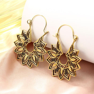Earrings - Lotus Blossom Hoop Earrings