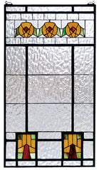 68104 Aurora Dogwood Stained Glass Window by Meyda Lighting | 18x32 inches