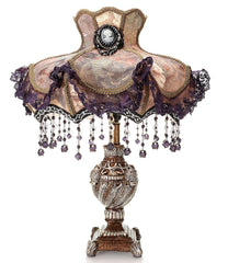 13965 Laced Jewel Ornate Beaded Victorian Table Lamp by River of Goods | 22 inches