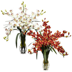 1184 Silk Cymbidium Orchids in Water in 2 colors by Nearly Natural | 31""