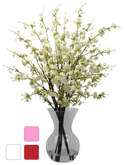 1315 Silk Cherry Blossoms in Water in 3 colors by Nearly Natural | 30""