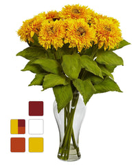 1360 Artificial Sunflowers in Diva Vase 5 colors by Nearly Natural | 22.5""