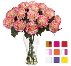 1403 Blooming Carnation Faux Flowers in 9 colors by Nearly Natural | 18""