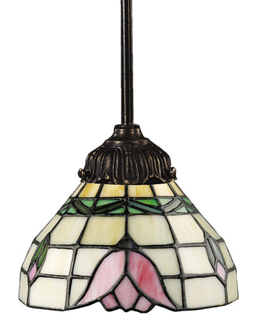078-TB-09 Tulip Mix-N-Match 1-Light Tiffany-Style Mini Pendant ELK Lighting