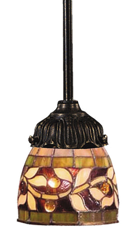 078-TB-13 English Ivy Mix-N-Match 1-Light Tiffany-Style Pendant ELK Lighting