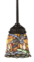 078-TB-12 Dragonfly Mix-N-Match 1-Light Tiffany-Style Mini Pendant ELK Lighting