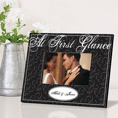 GC860 At First Glance Wedding/Couple | Personalized Picture Frame 4x6 Photo by JDS Marketing