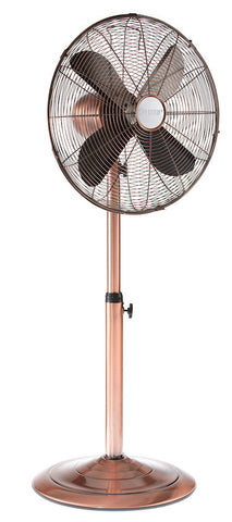 Copper 16 inch Adjustable Oscillating Pedestal Floor Fan