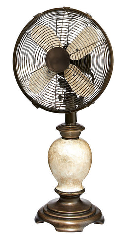 DOH2981 Embrace 10 inch Decorative Oscillating Table Desk Fan by Deco Breeze
